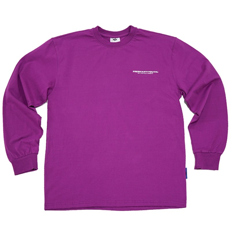 FRESH LONG-SLEEVE T SHIRTS - PURPLE