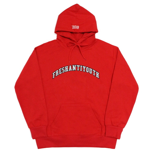 1998 College Hood Sweater - Red
