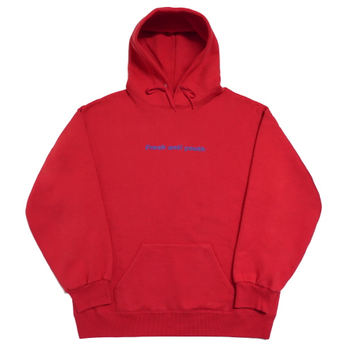 Logo Hood Sweater - Red