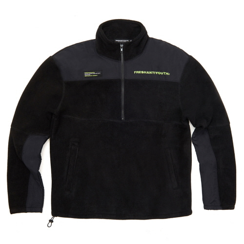 [Fresh anti youth] CUT FLEECE JACKET - BLACK