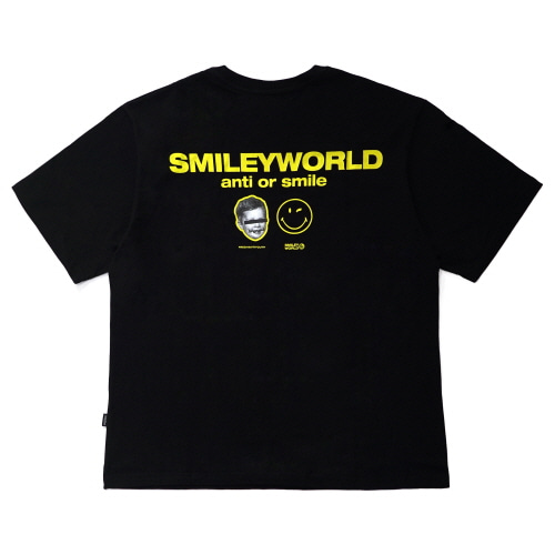 [FRAY x SMILEY] SMILEY WORLD T-SHIRTS - BLACK