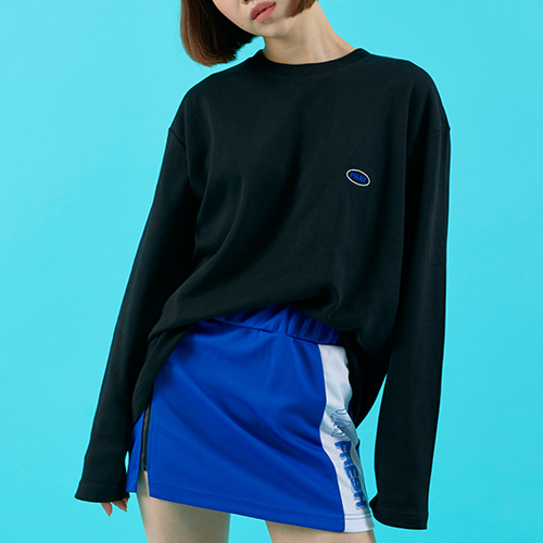 OVAL LOGO LONG SLEEVE - BLACK