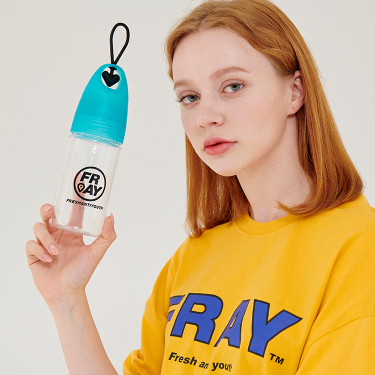 CIRCLE LOGO WATER BOTTLE - SKYBLUE