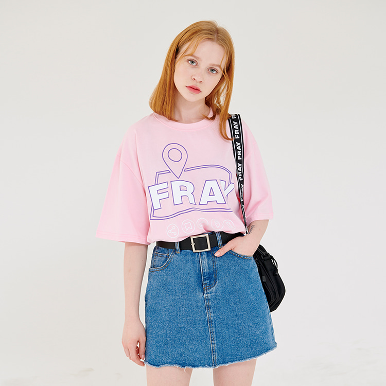 MAP LOGO T-SHIRTS - PINK