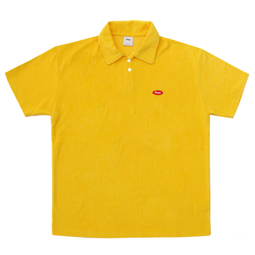 [Fresh anti youth] Logo Terry Shirts - Yellow