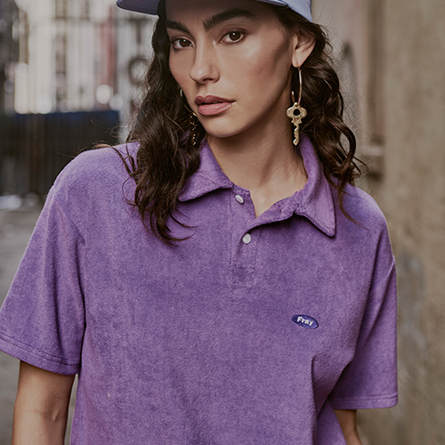 [Fresh anti youth] Logo Terry Shirts - Purple