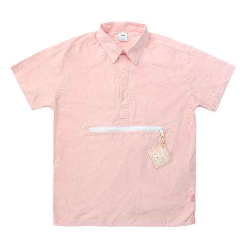 [Fresh anti youth] Zipper Pocket Shirts - Pink