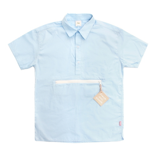 [Fresh anti youth] Zipper Pocket Shirts - SkyBlue