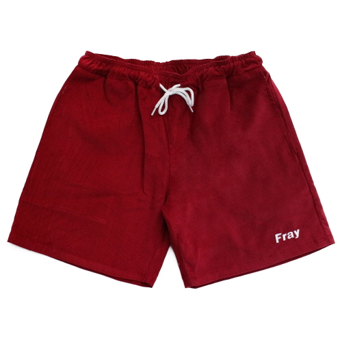 [Fresh anti youth] Corduroy Short Pants - Burgundy