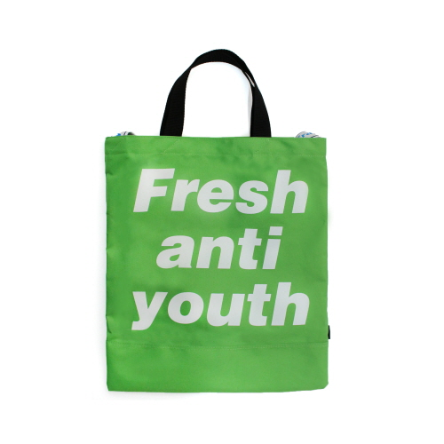 [Fresh anti youth] Logo Tote Bag - Green