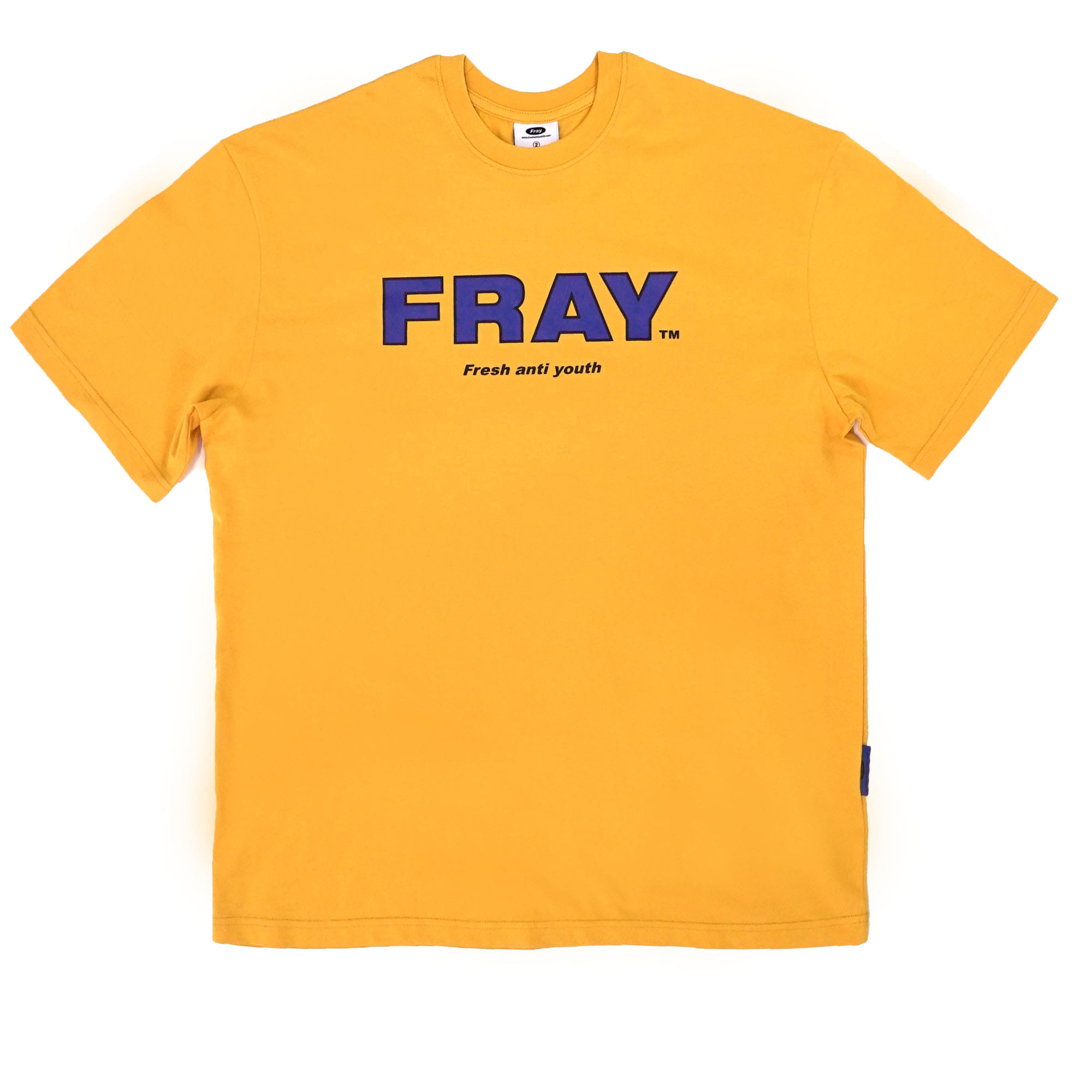 FRAY BIG LOGO T-SHIRTS - MUSTARD