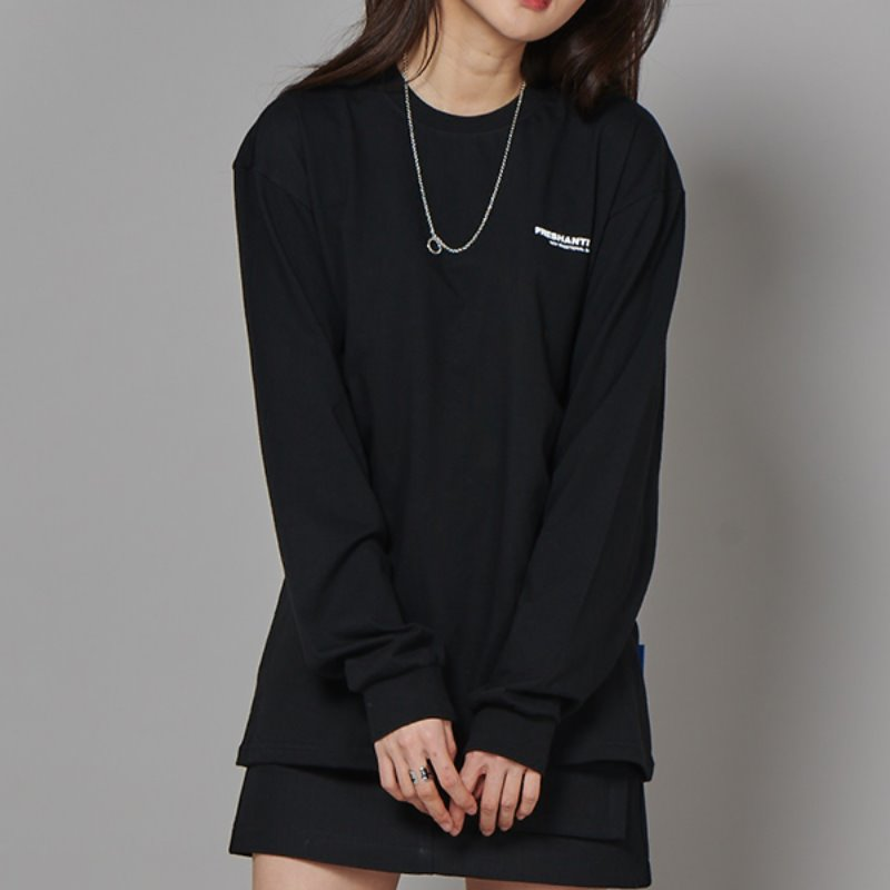 FRESH LONG-SLEEVE T SHIRTS - BLACK