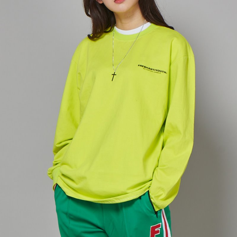 FRESH LONG-SLEEVE T SHIRTS - NEON