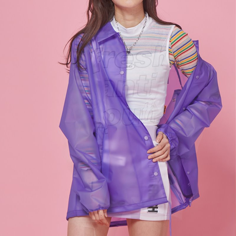 FRESH COACH JACKET - PURPLE