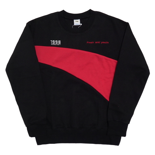 Wave-Crewneck Sweater - Black