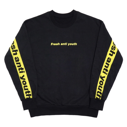 Band-Crewneck Sweater - Black/Yellow