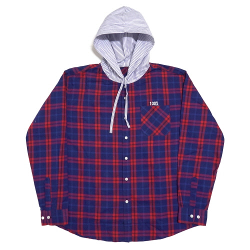 Flannel Hood-Shirts - Blue