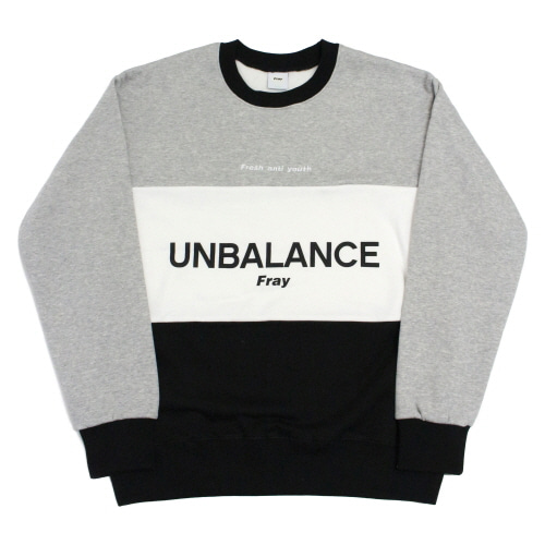 Unbalance-Crewneck Sweater - Black