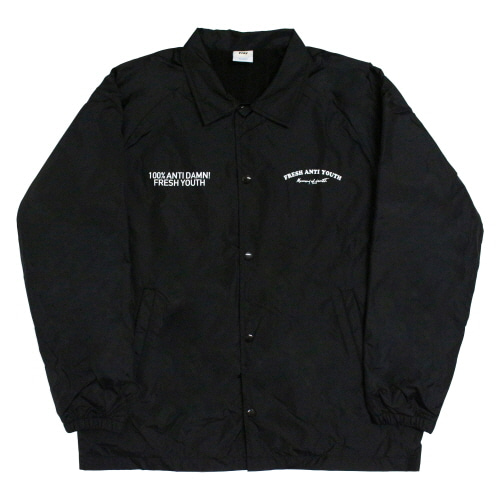 Fray Coach-Jacket - Black