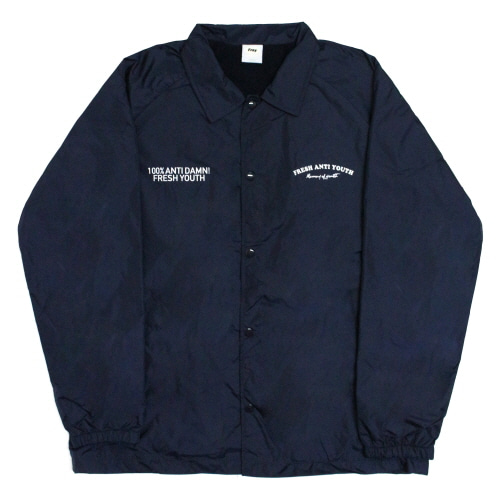Fray Coach-Jacket - Navy