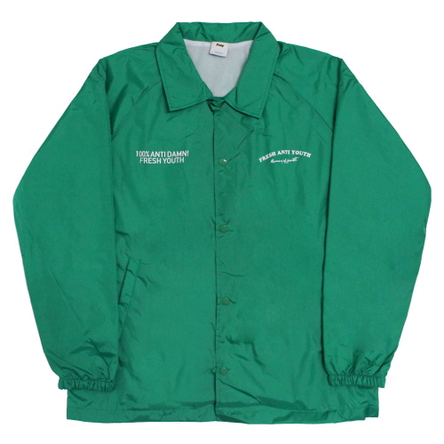 Fray Coach-Jacket - Green