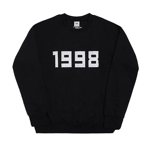 1998-Crewneck Sweater - Black