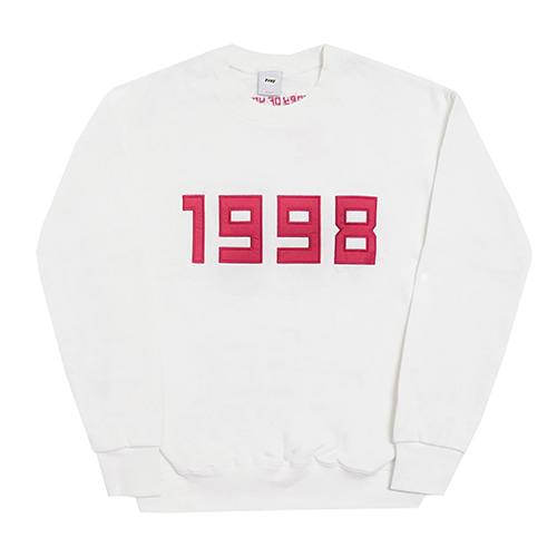 1998-Crewneck Sweater - White