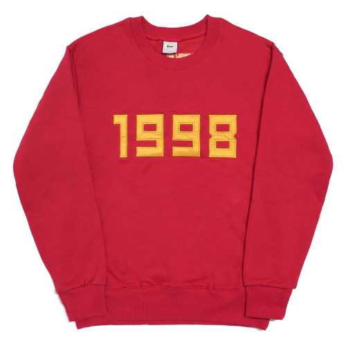 1998-Crewneck Sweater - Red