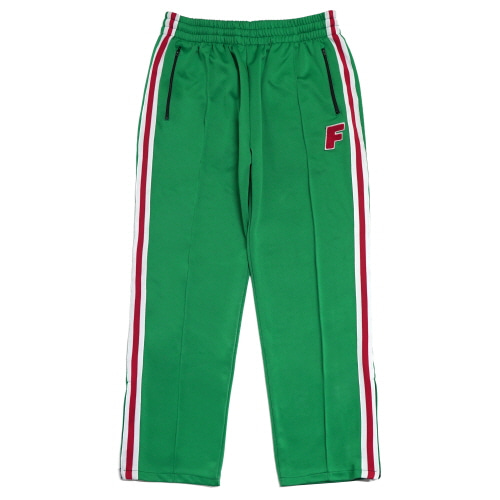 Logo Zip Track Pants - Green