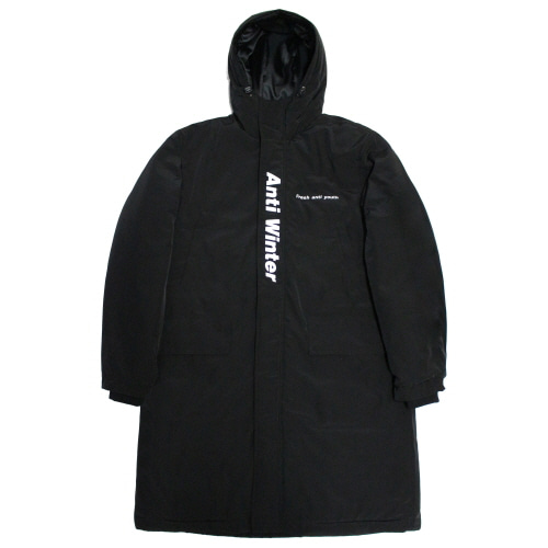 Anti Winter Long Padding Jacket - Black