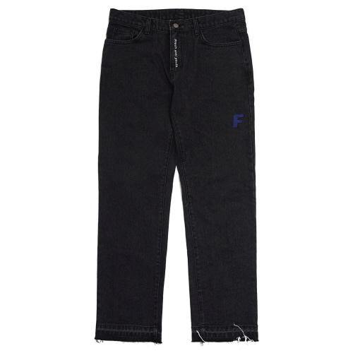 Basic Denim Pants  - Black