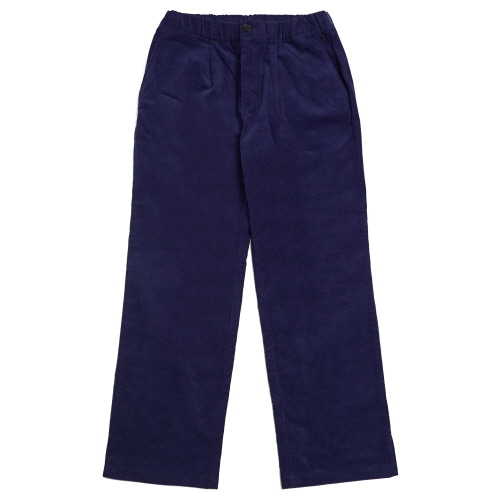 Corduroy Wide Pants - Navy