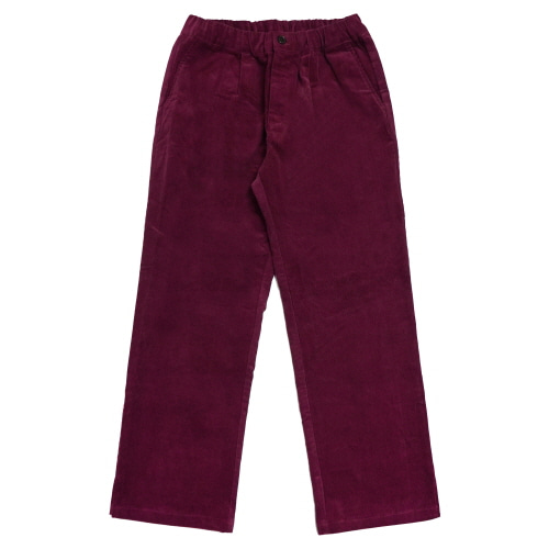 Corduroy Wide Pants - Burgundy