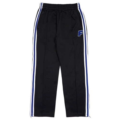 Logo Zip Track Pants - Black