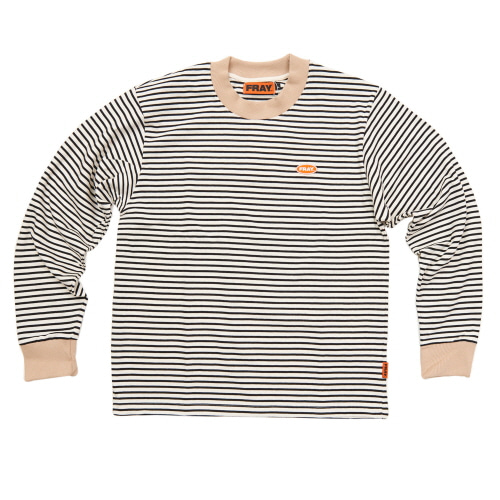 [FRAY] STRIPE LONGSLEEVE - WHITE