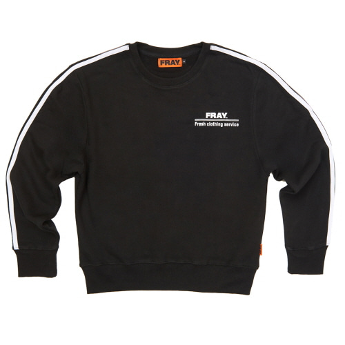 [FRAY] FRAY CREWNECK SWEATER - BLACK