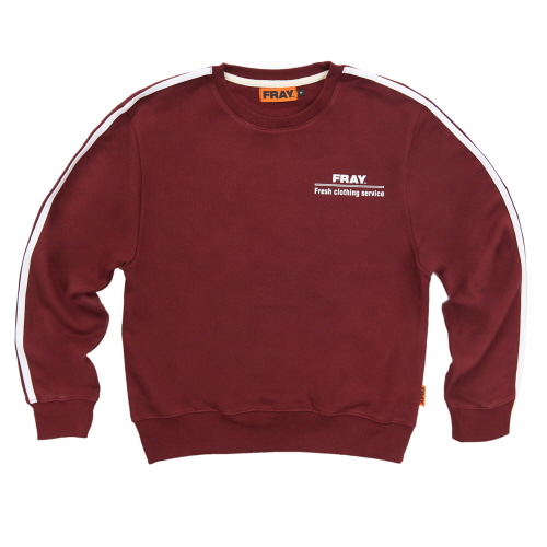 [FRAY] FRAY CREWNECK SWEATER - BURGUNDY