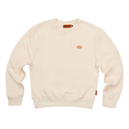 [FRAY] LOGO CREWNECK SWEATER - IVORY