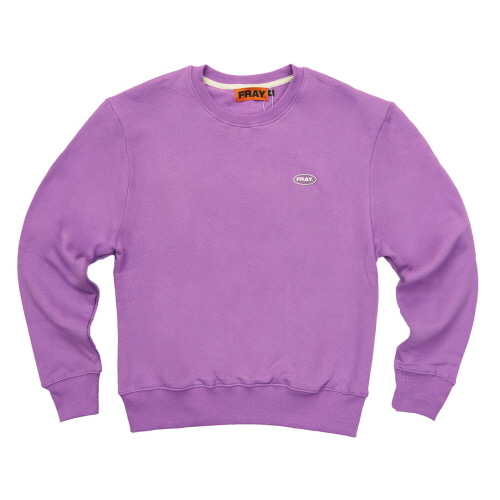 [FRAY] LOGO CREWNECK SWEATER - PURPLE