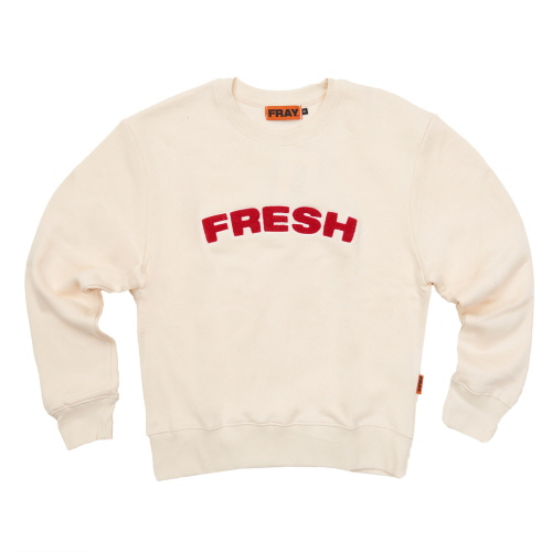 [FRAY] FRESH CREWNECK SWEATER - IVORY