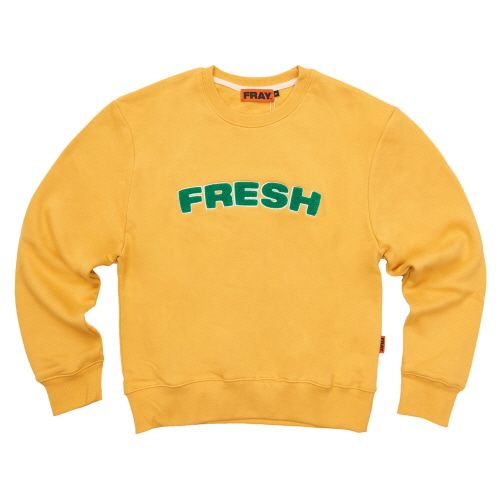 [FRAY] FRESH CREWNECK SWEATER - MUSTARD