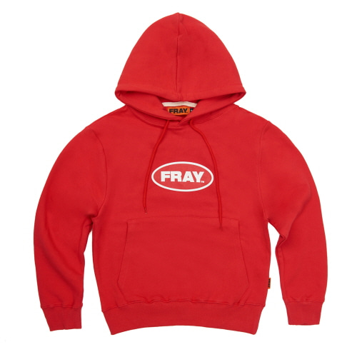 [FRAY] BIG LOGO PULLOVER HOODIE - RED