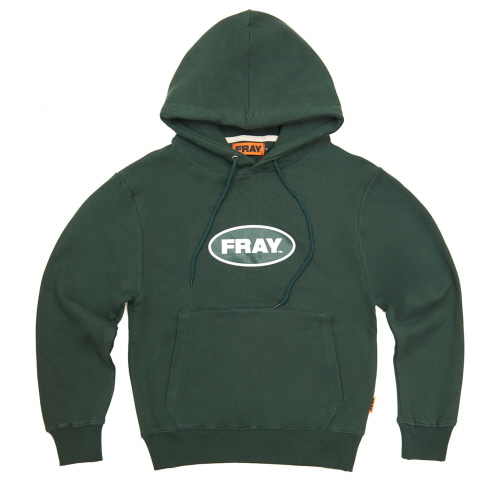 [FRAY] BIG LOGO PULLOVER HOODIE - DEEP GREEN