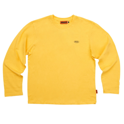 [FRAY] LOGO LONGSLEEVE - YELLOW