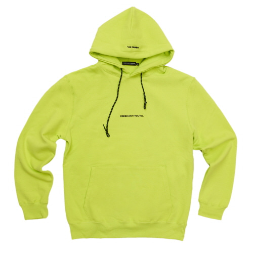 [Fresh anti youth] MINI LOGO FULLOVER HOODIE - NEON