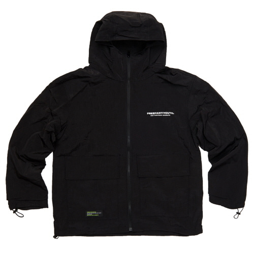 [Fresh anti youth] WIND BREAKER JACKET - BLACK
