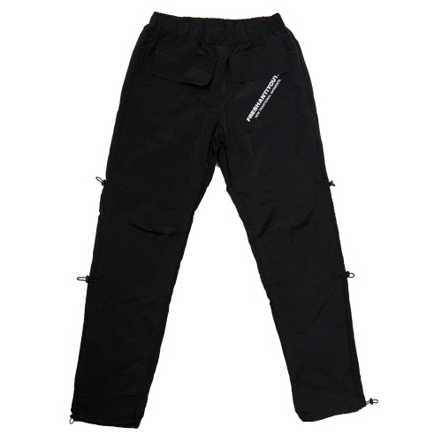 [Fresh anti youth] STRING WARM UP PANTS - BLACK