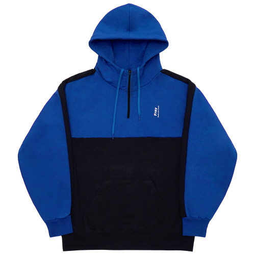 Half Zip-Up Hoody - Blue