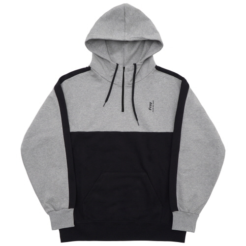 Half Zip-Up Hoody - Grey