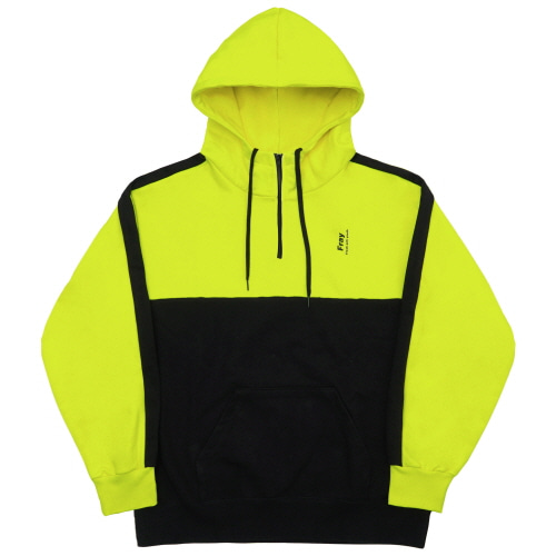 Half Zip-Up Hoody - Neon Yellow
